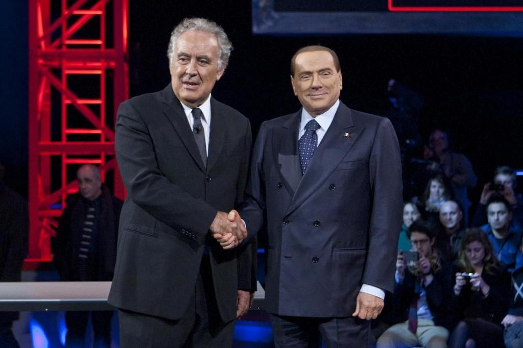Silvio Berlusconi ospite a Servizio Pubblico Santoro