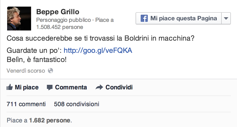 offese grillo